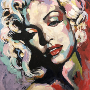 Marilyn Monroe, 2020 Acrylic 80 x 100 cm