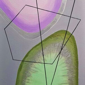 Artist Vera Moise and her abstract paintings